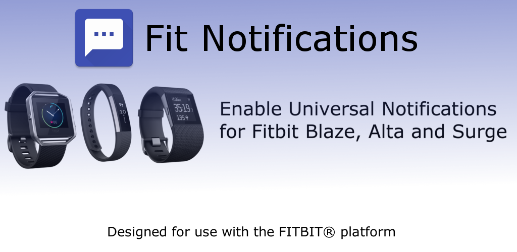 Fit Notifications Feature Graphic
