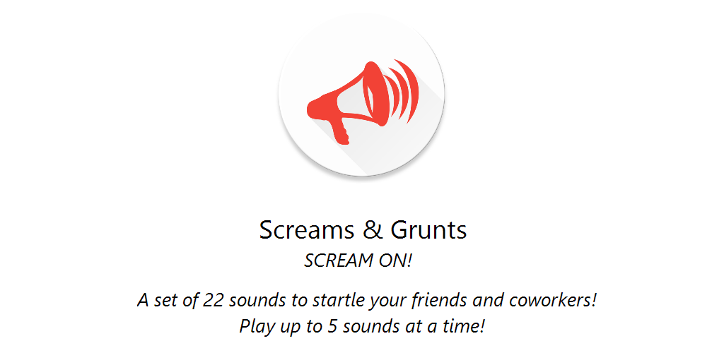 Screams and Grunts Feature Graphic